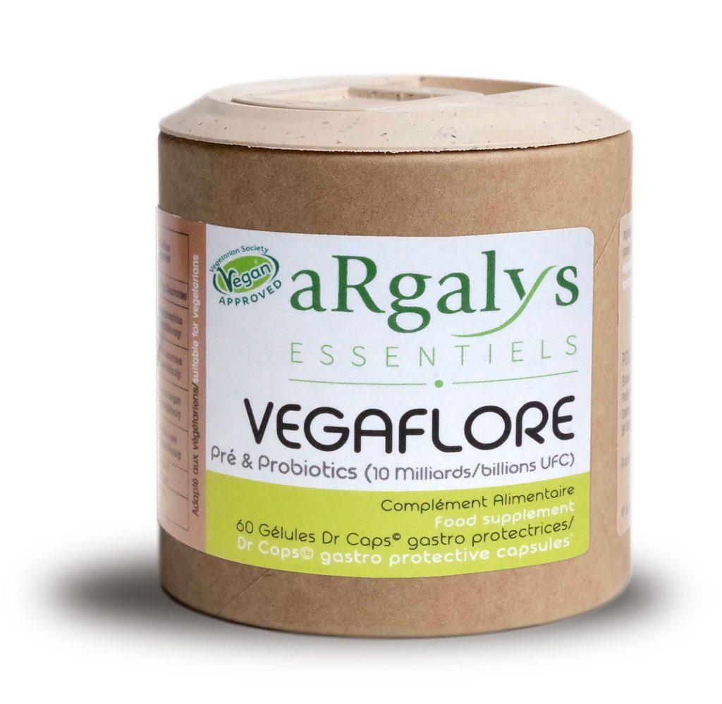 Vegaflore argalys complement probiotiques prébiotiques vitamines