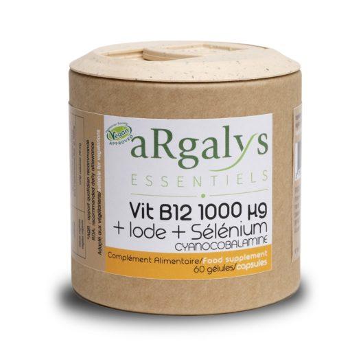 vitamine B12 argalys essentiels iode selenium cyanocobalamine(60) 05 2019 1980 min