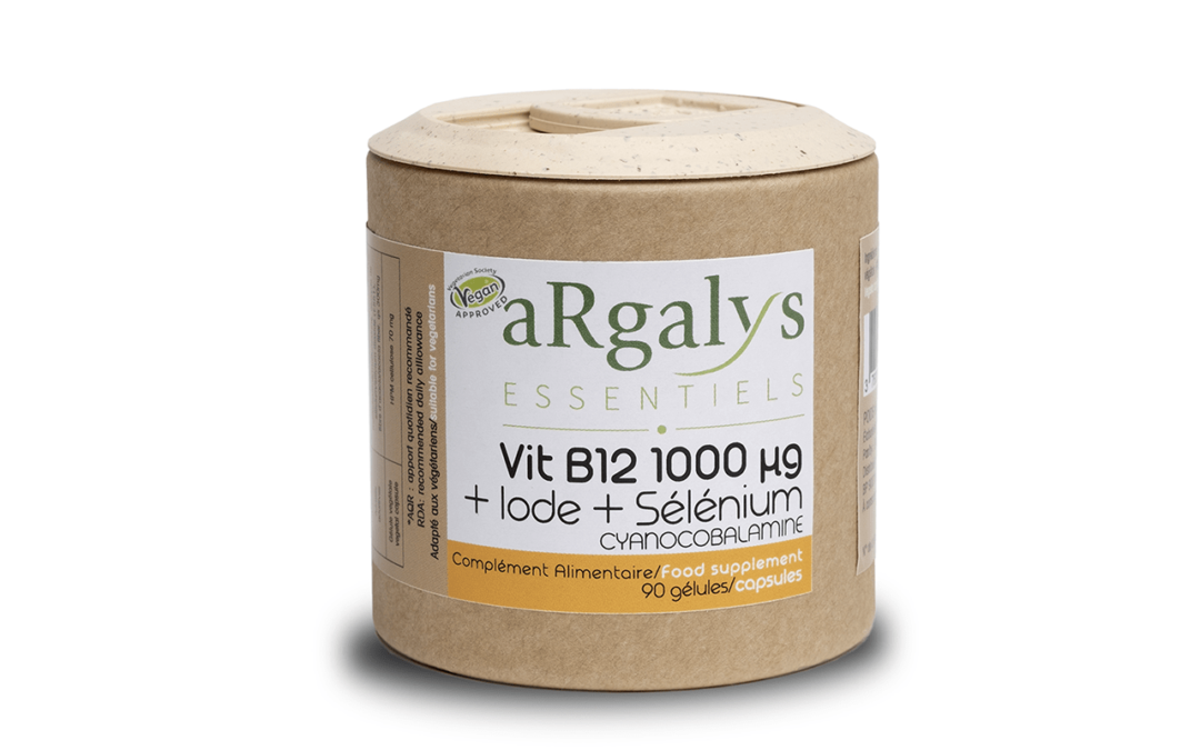vitamine b12 B12 cobalamine cyanocobalamine argalys complement alimentaire 1000 µg cyano vitamine argalys B 12 food supplement vegan
