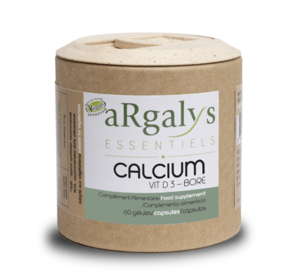 Calcium D3 Bore argalys essentiels vegan