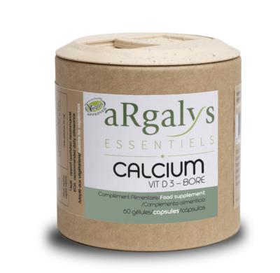 Calcium D3 Bore argalys essentiels vegan