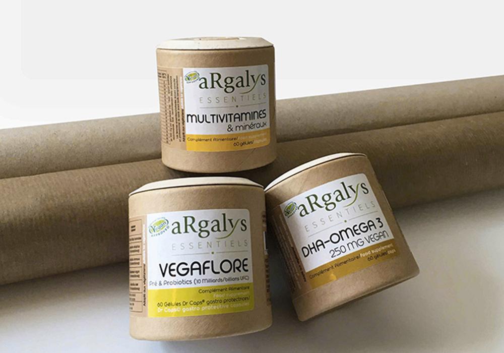 Rond multivitamines et mineraux argalys essentiels complement alimentaires vegan